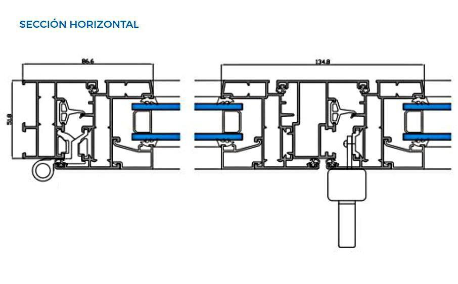 omega-evo-vista-tecnica-seccion-horizontal-abisagradas-sistemas-de-aluminio-para-la-construccion-alumed