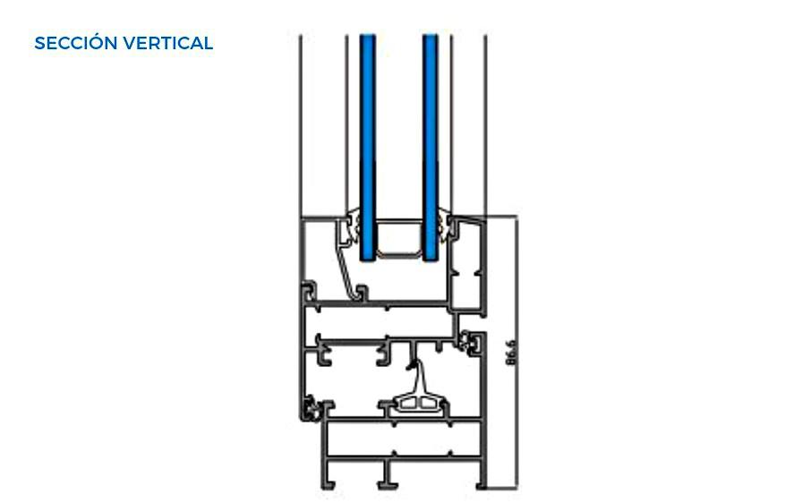 omega-evo-vista-tecnica-seccion-vertical-abisagradas-sistemas-de-aluminio-para-la-construccion-alumed