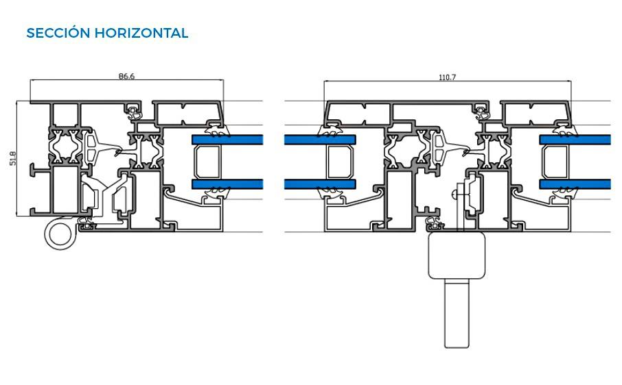 omega-thermic-vista-tecnica-seccion-horizontal-abisagradas-sistemas-de-aluminio-para-la-construccion-alumed