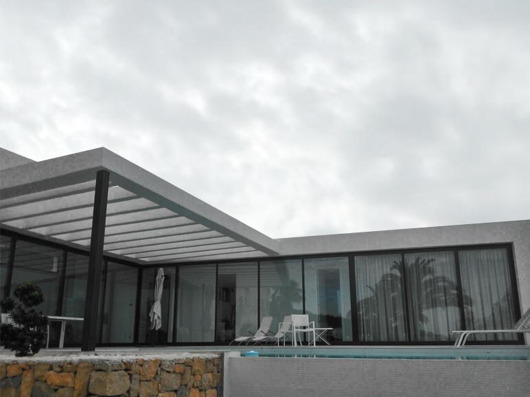 proyecto unifamiliar minimalista alicante sistemas de aluminio para la construccion alumed 4