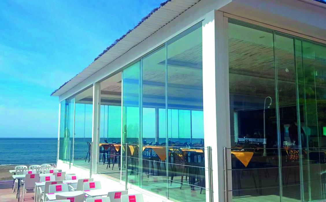 corredera de cristal correderas sistemas de aluminio para la construccion alumed restaurante 2