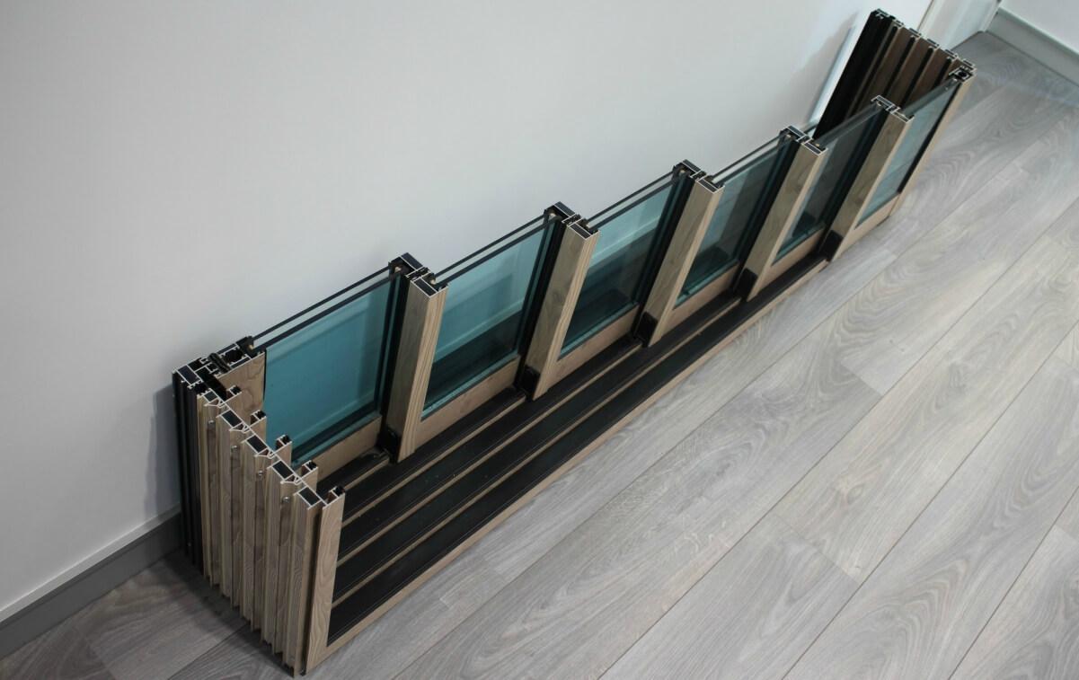 sistemas de aluminio para la construccion alumed aluminium systems alicante showroom 8 perfil madera