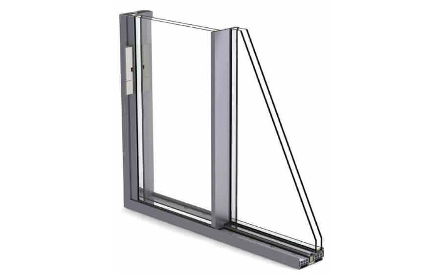 corredera minimalista correderas producto sistemas de aluminio para la construccion alumed alicante