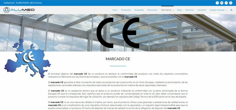 marcado ce ensayos normativa ventanas de aluminio alumed aluminium systems alicante web 1