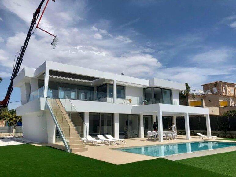 chalet residencial mallorca proyecto sistemas de aluminio para la construccion alumed aluminium systems alicante 1