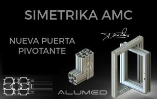 serie simetrika amc pivotante abisagrada ventana puerta alicante sistemas de aluminio para la construcción ficha