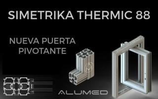 serie simetrika pivotante abisagrada ventana puerta alicante sistemas de aluminio para la construcción imagen