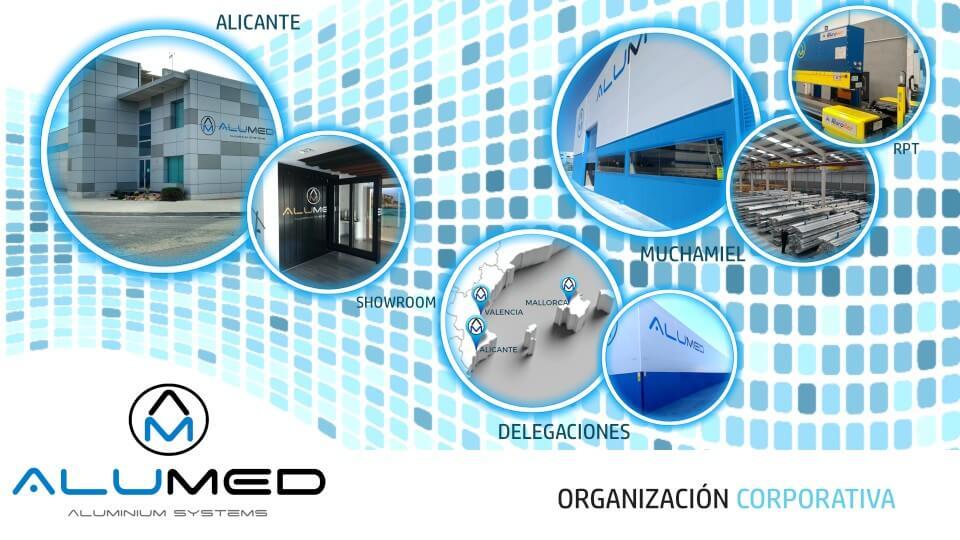 sistemas de aluminio para la construccion alumed aluminium systems alicante organizacion corporativa