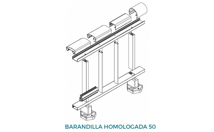 alumed barandilla producto sistemas de aluminio carpinteria arquitectura para la construccion alumed alicante 1