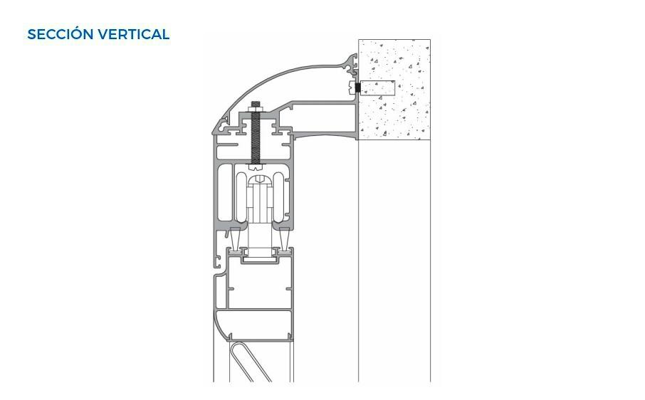 mallorquina extramuro mallorquinas vista tecnica seccion vertical sistemas de aluminio carpinteria arquitectura para la construccion alumed alicante