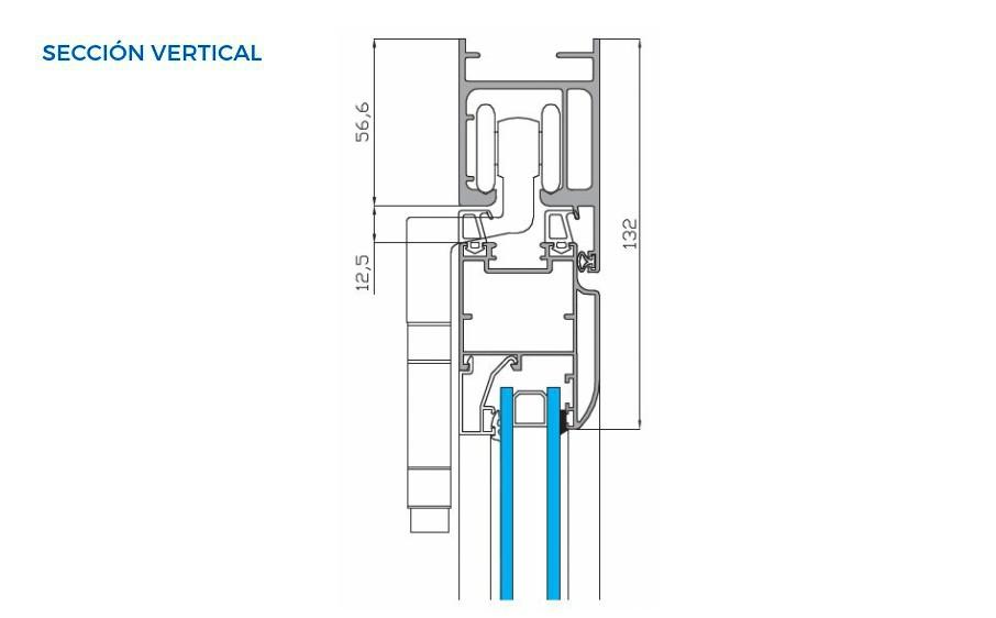 plegable cala vista tecnica seccion vertical sistemas de aluminio carpinteria arquitectura para la construccion alumed alicante