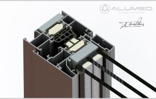 insignia amc abisagradas producto sistemas de aluminio carpintería arquitectura para la construcción alumed alicante