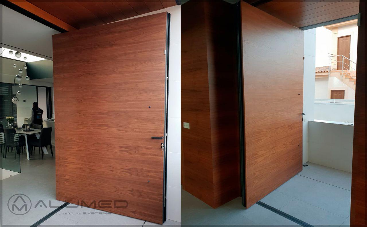 simetrika thermic 88 abisagradas puerta pivotante producto sistemas de aluminio carpinteria arquitectura para la construccion alumed alicante 4