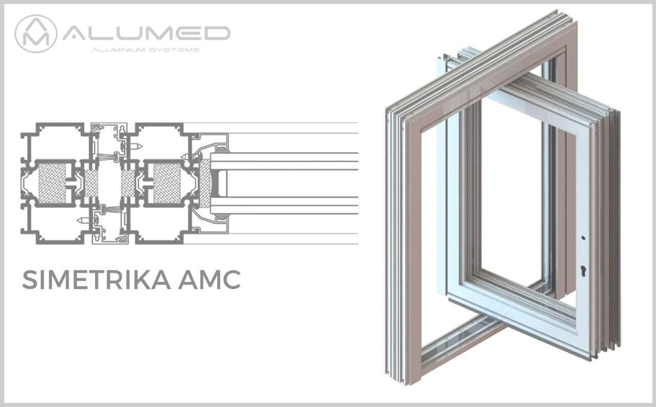 simetrika thermic 88 abisagradas puerta pivotante producto sistemas de aluminio carpinteria arquitectura para la construccion alumed alicante