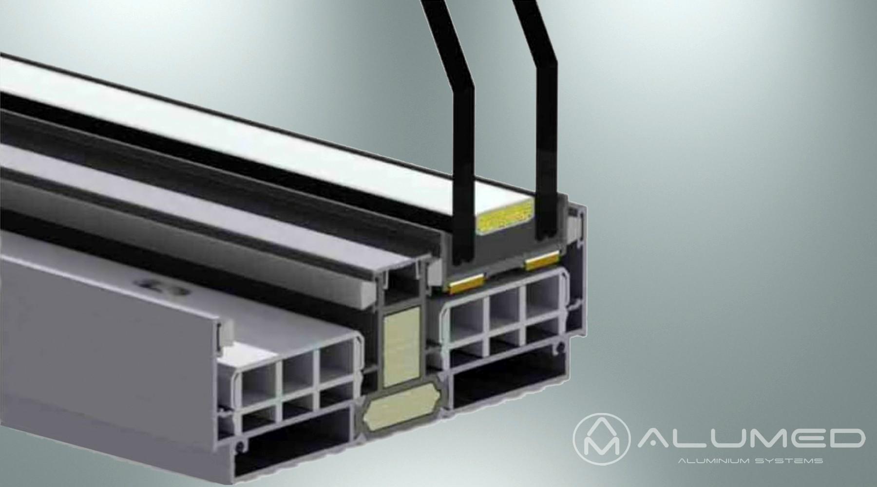 corredera minimalista correderas producto sistemas de aluminio para la construcción alumed alicante